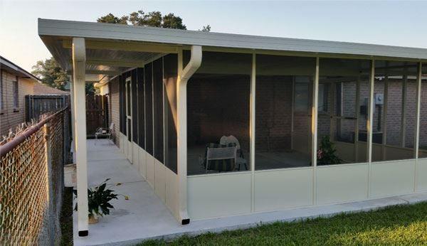 Aluminum Patio Cover Contractors In New Orleans Louisiana Carport Sunroom Glass Enclosures