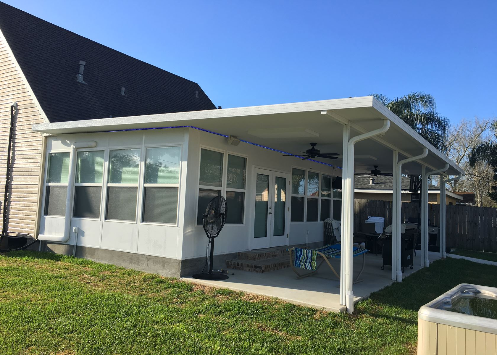 New orleans patio covers patios patio cover install for Porch sunroom