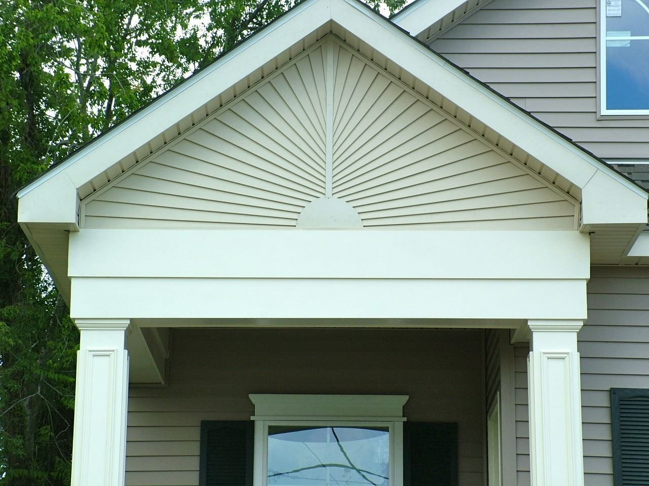 Exterior home improvement contractors in new orleans for Fypon gable decorations