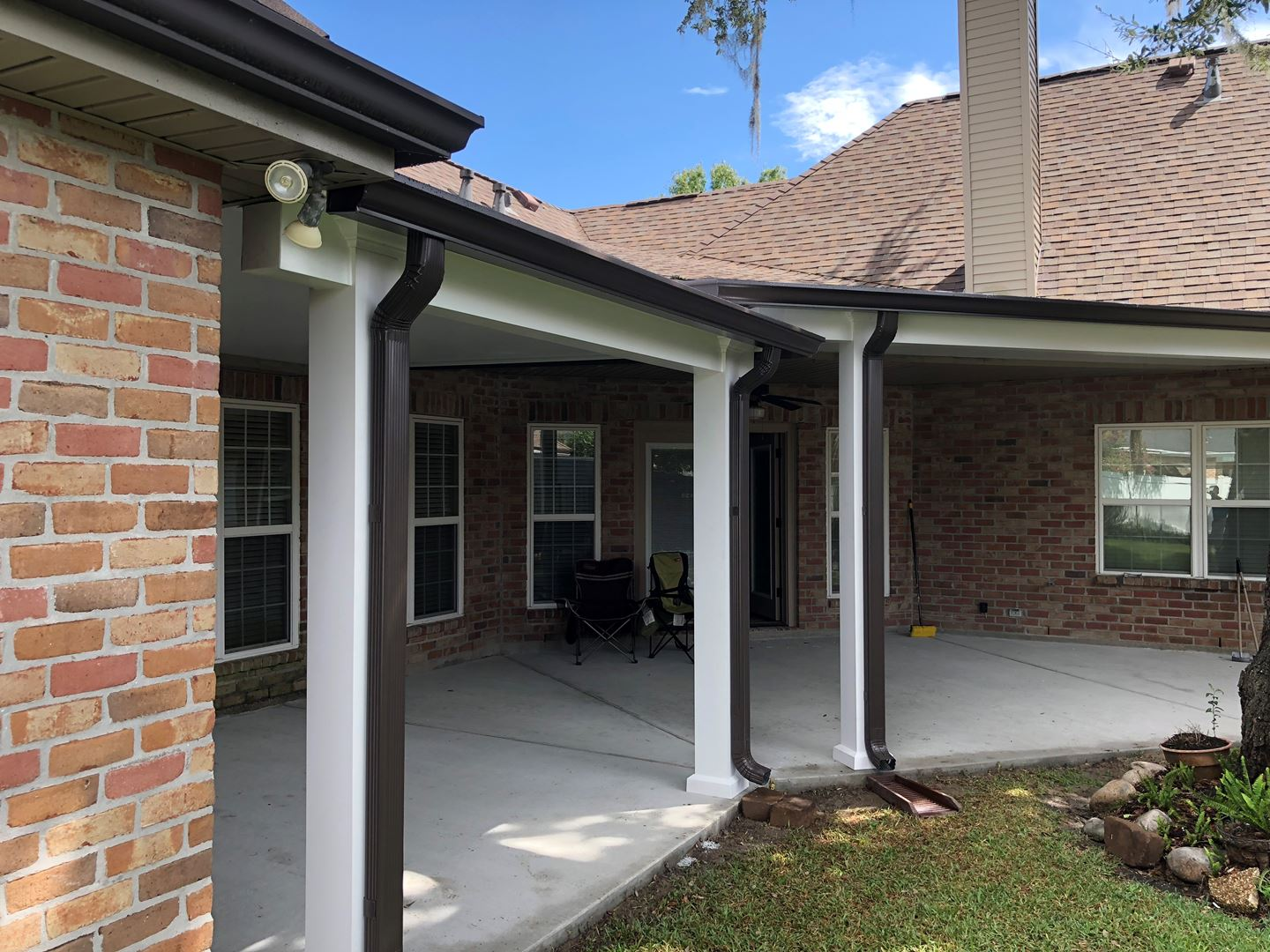 Gutter Contractors In New Orleans Louisiana Leafless Aluminum Gutter Guard System Installation